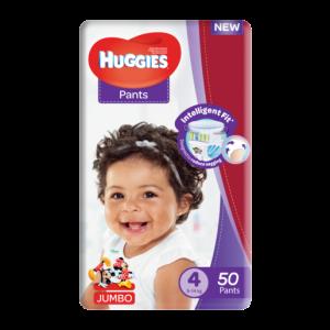Huggies Size 4 Jumbo Diaper Pants 50 Pack