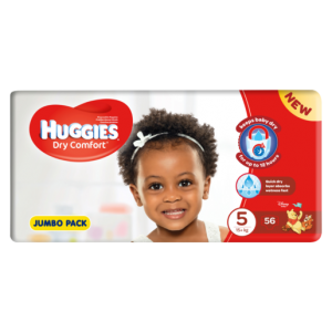 Huggies Dry Comfort Jumbo Pack Size 5 Diapers 56 Pack