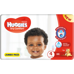 Huggies Dry Comort Jumbo Diapers 66 Pack