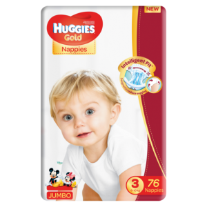 Huggies Gold Size 3 Nappies 76 Pack