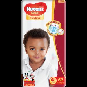 Huggies Size 4 Jumbo Gold Diapers 62 Pack