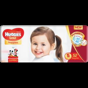 Huggies Size 5 Jumbo Gold Diapers 52 Pack
