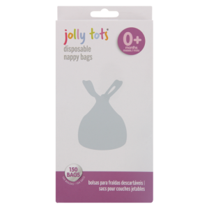 Jolly Tots Disposable Nappy Bags 150 Pack