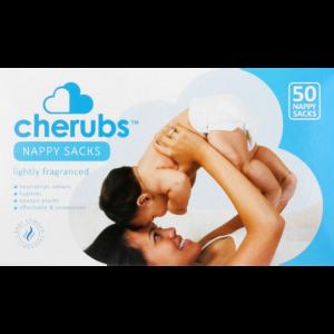 Cherubs Lightly Fragranced Nappy Sacks 50 Pack