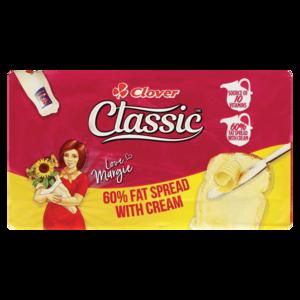 Clover Classic 60% Fat Spread With Cream Brick 500g