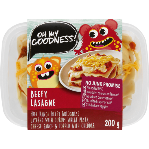 Oh My Goodness! Beefy Lasagne Ready Meal 200g