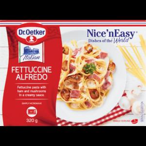 Dr. Oetker Nice 'N Easy Frozen Fettuccine Alfredo Ready Meal 320g