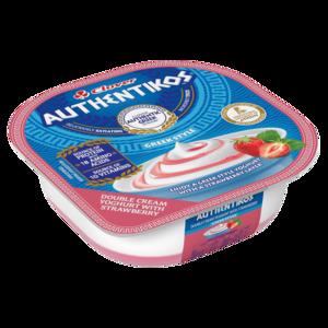 Clover Authentikos Greek Style Double Cream Yoghurt With Strawberry 100g