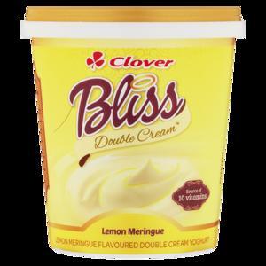 Clover Bliss Lemon Meringue Flavoured Double Cream Yoghurt Based Dairy Snack 1kg