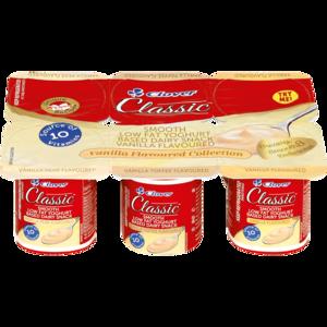 Clover Classic Smooth Vanilla Yoghurt Based Dairy Snack 6 x 100g