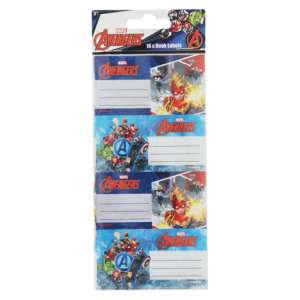 Avengers Assorted Book Labels 16 Piece