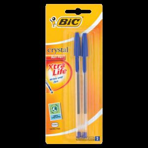 Bic Crystal Blue Ball Pen 2 Pack