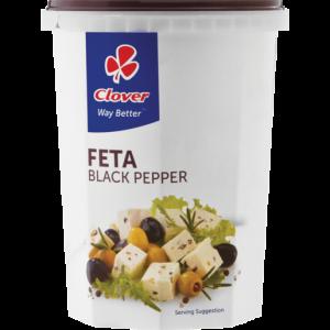 Clover Black Pepper Feta Cheese 400g
