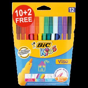 Bic Assorted Fibre Pens 12 Pack