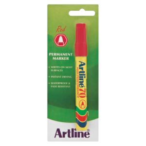 Artline EK 70 Red Permanent Marker