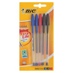 Bic Assorted Crystal Ballpoint Pens 5 Pack