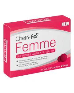 Chela-fer Femme 24mg 15 Tablets