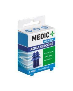 Medic Earplugs Silicone Aqua 2 Pairs