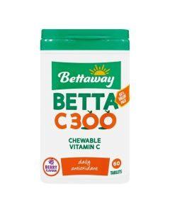 Bettaway Vitamin C 300mg 60 Chew Tabs