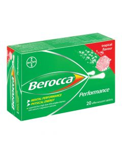 Berocca Effervescent Tropical 20 Tablets