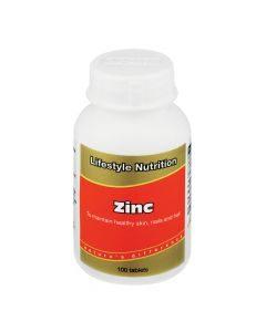 Lifestyle Nutrition Zinc Tabs 100's