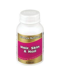 Lifestyle Nutrition Hair, Skin & Nails 60 Caps