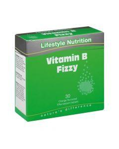 Lifestyle Nutrition Vitamin B Fizzy 30 Effervescent Tabs