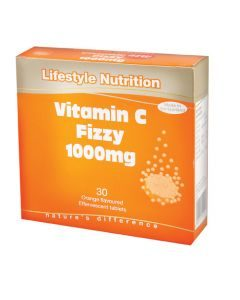 Lifestyle Nutrition Vitamin C Fizzy 1000mg 30 Effervescent Tabs