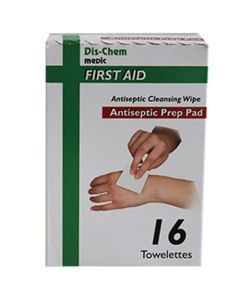 Dis-Chem Wipes Antiseptic 16's Cleansing