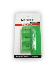Medic Pill Box 3 Division Green