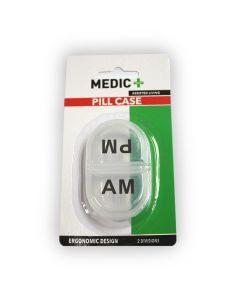 Medic Pill Box 2 Division Am/pm Clear