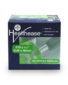 Healthease Sterile Needles 21g 100's