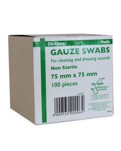 Medic Gauze Swabs 75mm X 75mm 8 Ply 100's