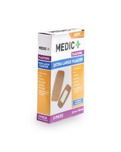 Medic Plaster Fabric 50x100mm Xlrg 5's