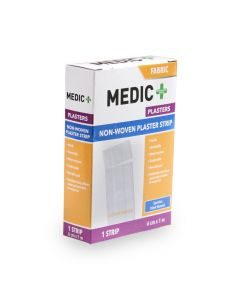 Medic Plaster Strip Fabric White 6cmx1m