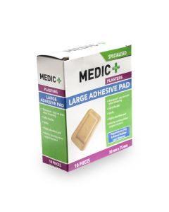 Medic Plaster Adhesive Pad 50x75mm 10's