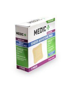 Medic Plaster Adhesive Pad 76x76mm 5's