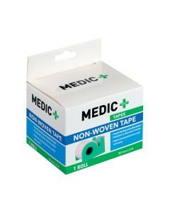 Medic Tape Non-woven With Dispenser 5cm X5m