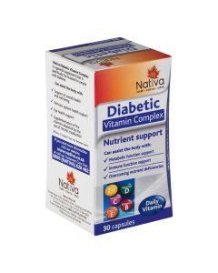 Nativa Diabetic Vitamin Complex 30 Caps