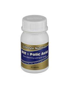 Lifestyle Nutritionvitamin B12 + Folic Acid 60 Tabs