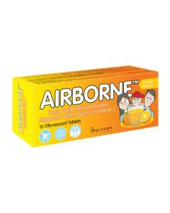 Airborne Effervescent Tablets Orange Flavour 10's