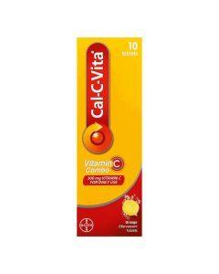 Cal-C-Vita Vitamin C Combo Orange Flavour Effervescent Tablets 10's
