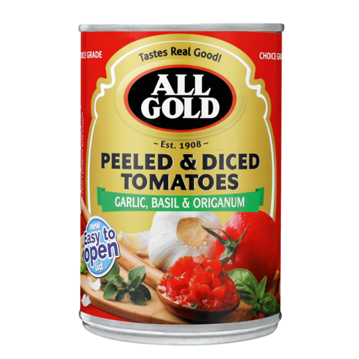 All Gold Peeled & Diced Tomatoes Can 400g