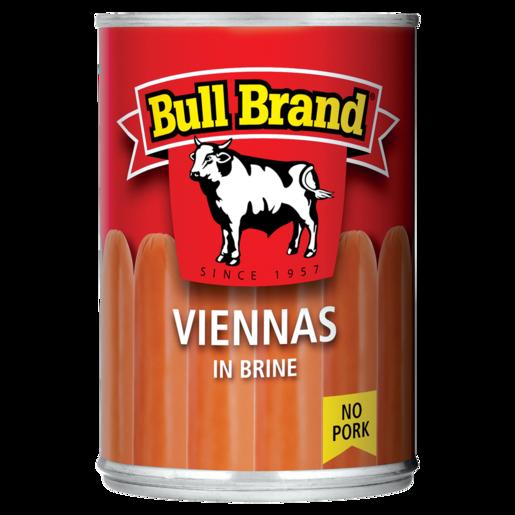 Bull Brand Viennas In Brine Can 390g