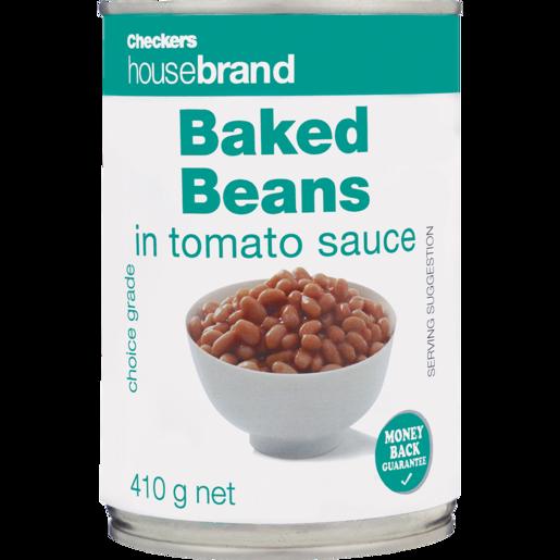 Checkers Housebrand Baked Beans In Tomato Sauce 410g