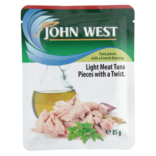 John West Light Meat Tuna Pieces In French Dressing Pouch 85g