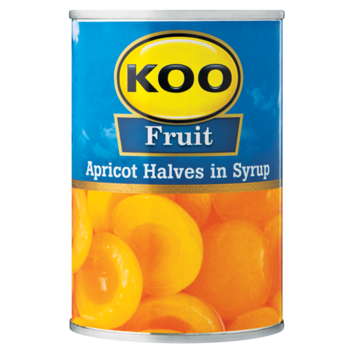 Koo Apricot Halves In Syrup Can 410g