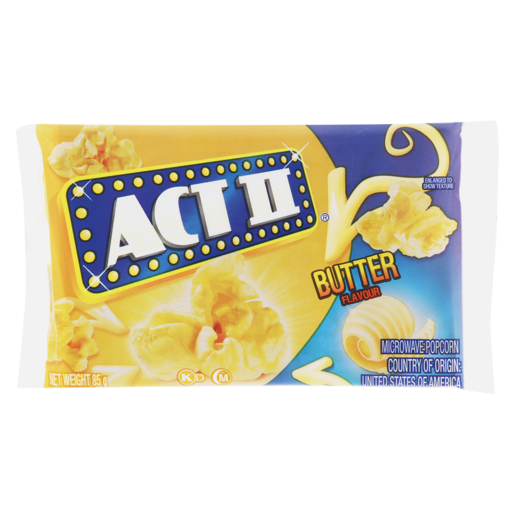 Act II Butter Flavoured Microwave Popcorn 85g