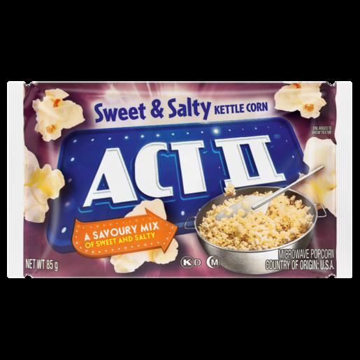 Act II Sweet & Salty Kettle Corn Microwave Popcorn 85g