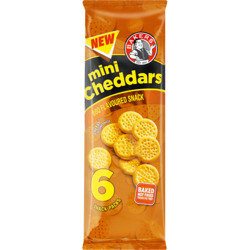 Bakers Barbecue Mini Cheddars Pack 6 x 33g